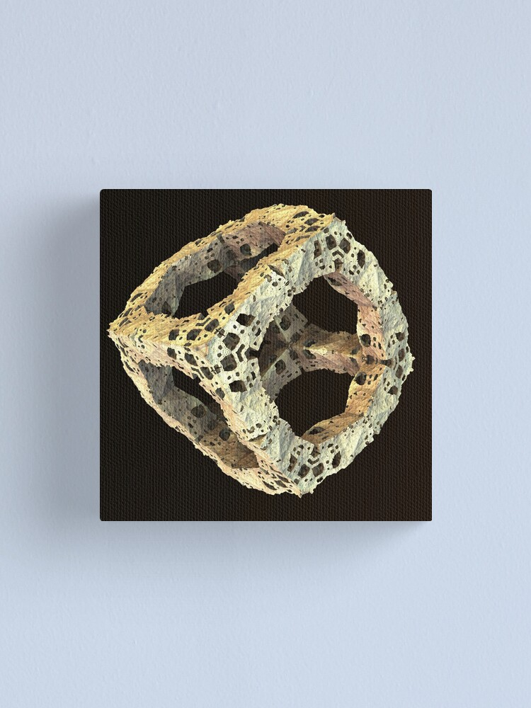 Alternate view of Stone Fractal Cube Canvas Print