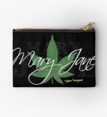 Mary Jane Marijuana Leaf Stoners Shirts And Gifts Studio Pouch