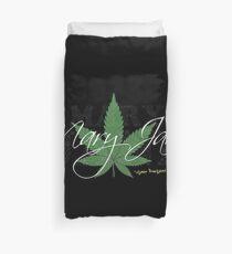 Mary Jane Marijuana Leaf Stoners Shirts And Gifts Duvet Cover