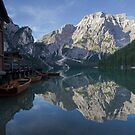 The magic of Braies Lake by Elena Martinello