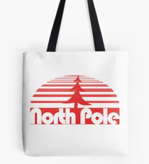 Retro North Pole Tote Bag