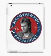 Macgyver For President iPad Case/Skin
