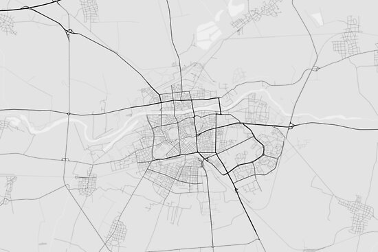 Plovdiv, Bulgaria Map. (Black on white) von Graphical-Maps