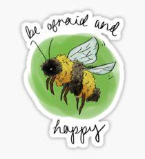 Biene ängstlich + glücklich Sticker