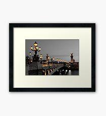 Alexander III bridge, Paris Framed Print
