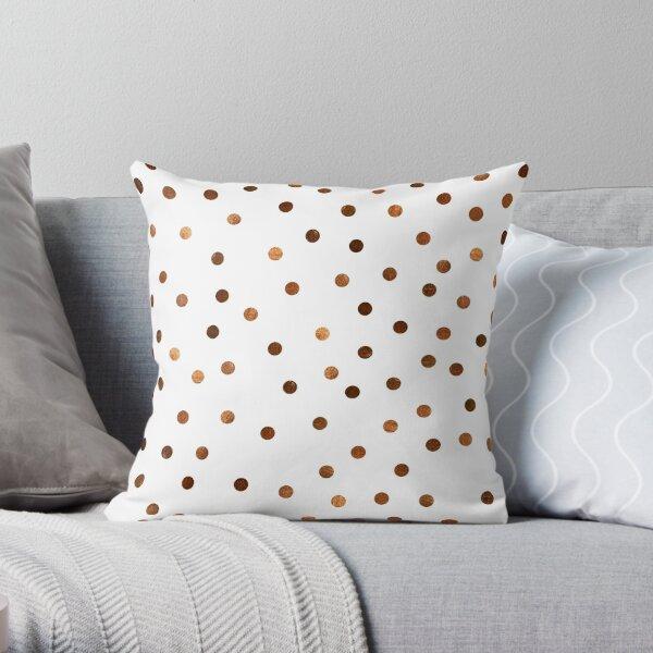 Copper Dots Pattern Throw Pillow