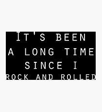 classic rock and roll zeppelin lyrics  Photographic Print