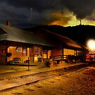Yreka train station. by pdsfotoart