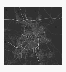 Nicosia, Cyprus Map. (White on black) Fotodruck