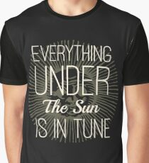 Everything under the Sun is In Tune Pink Floyd Lyrics Graphic T-Shirt