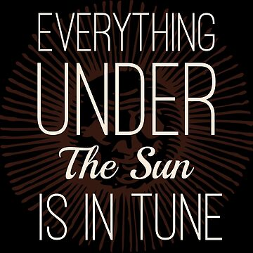 Everything under the Sun is In Tune Pink Floyd Lyrics by Sago-Design