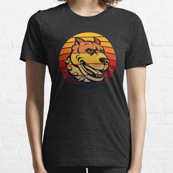 Vintage Retro Sunset Pitbull Dog Essential T-Shirt