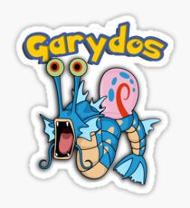 Gary the snail and Gyarados  mashup = Garydos Sticker