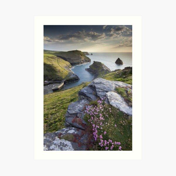 Cornwall : Boscastle Harbour Art Print