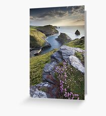 Cornwall : Boscastle Harbour Greeting Card