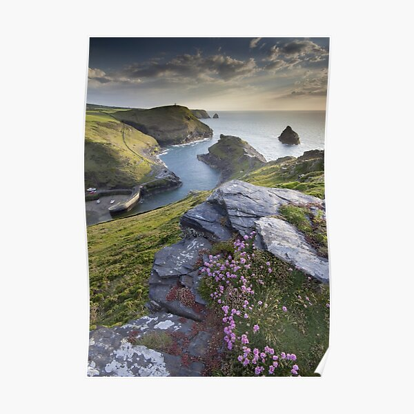 Cornwall : Boscastle Harbour Poster