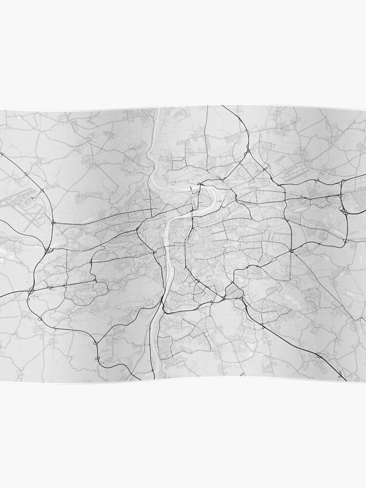 Prague, Czech Republic Map. (Black on white) | Poster