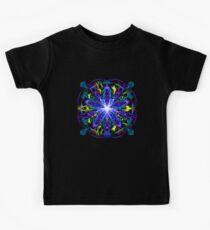 Energetic Geometry - moonlight flower bloom Kids Clothes