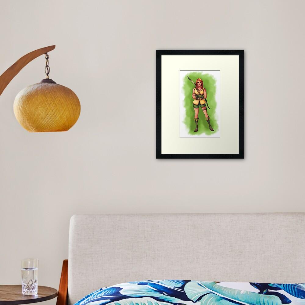 Huntress Hattie Framed Art Print
