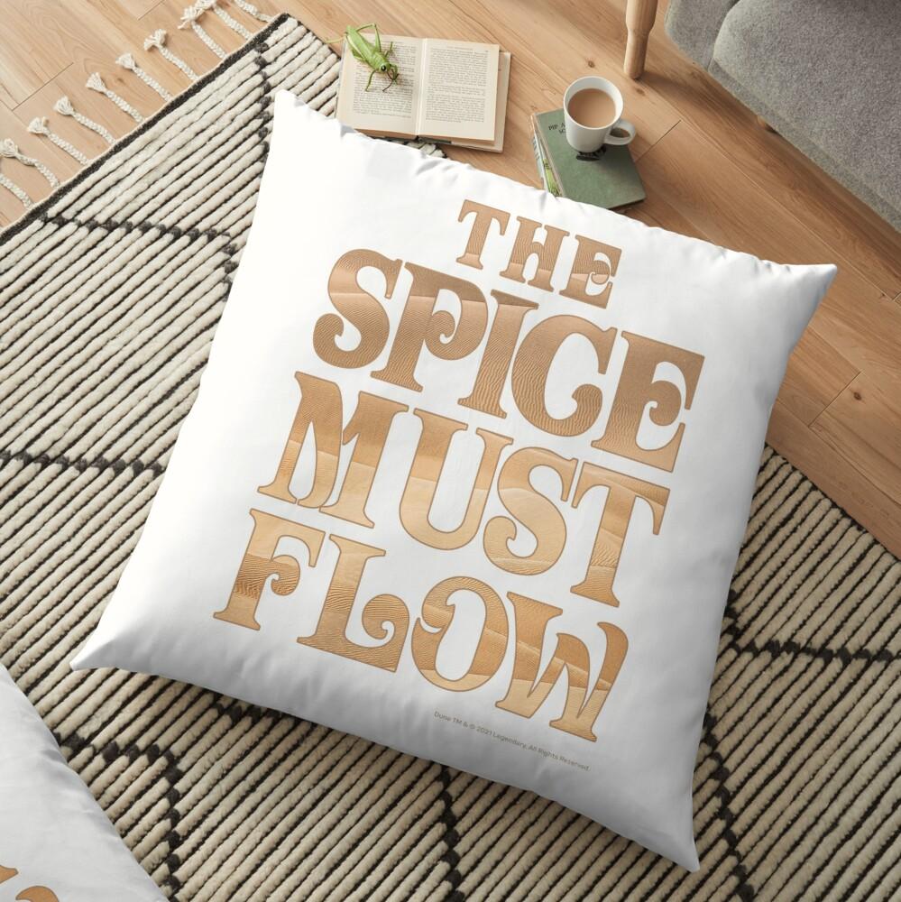 The Spice Must Flow, Dune Floor Pillow