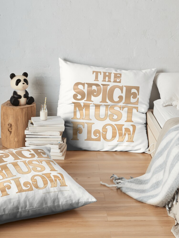Alternate view of The Spice Must Flow, Dune Floor Pillow