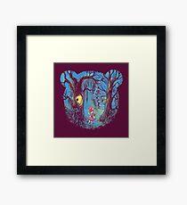 Girl and the bear Framed Print