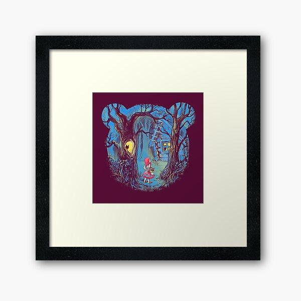 Girl and the bear Framed Art Print