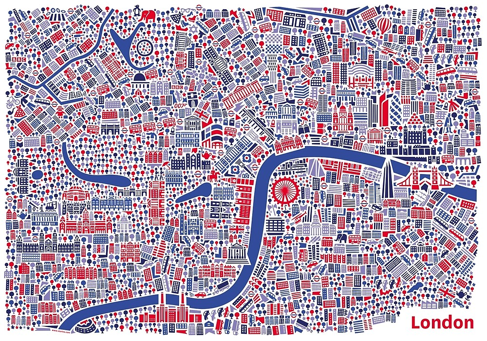 London City Map Poster by Vianina – London City Map