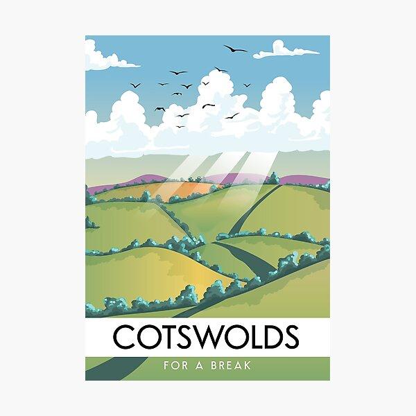 Cotswolds - for a break vintage travel postcard. Photographic Print