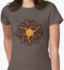 Energetic Geometry - Fire Spinner Bloom  Womens Fitted T-Shirt