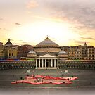 "Naples, Piazza del Plebiscito with ""Europe"" (3) by Rachel Veser"