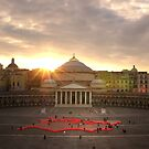 "Naples, Piazza del Plebiscito with ""Europe"" (1) by Rachel Veser"