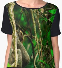Sloth in the rainforest  Chiffon Top