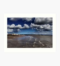 Bridlington Coastline Art Print