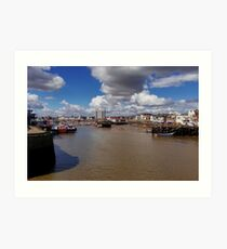 Bridlington Harbour Art Print