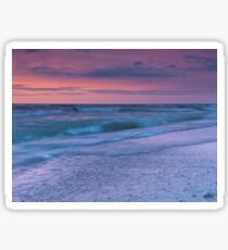 Beautiful tranquil sunset nature scenery of lake Huron Canada art photo print Sticker