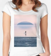 Heading to the Blue Island Women's Fitted Scoop T-Shirt