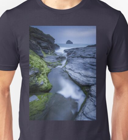 Cornwall- Trebarwith Strand Blues T-Shirt