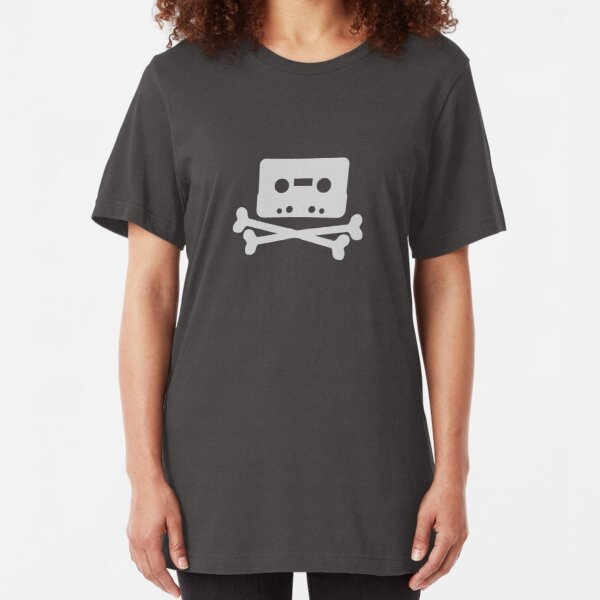 Home Taping Is Killing Music Logo Slim Fit T-Shirt