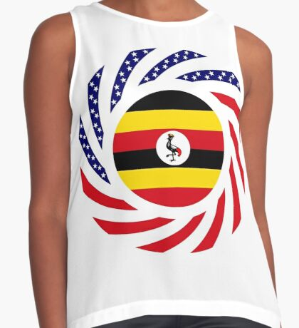 Ugandan American Multinational Patriot Flag Series Sleeveless Top