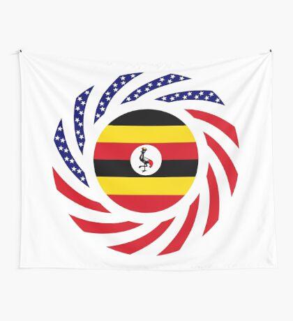 Ugandan American Multinational Patriot Flag Series Wall Tapestry