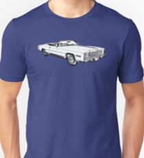 1975 Cadillac Eldorado Convertible Illustration Unisex T-Shirt
