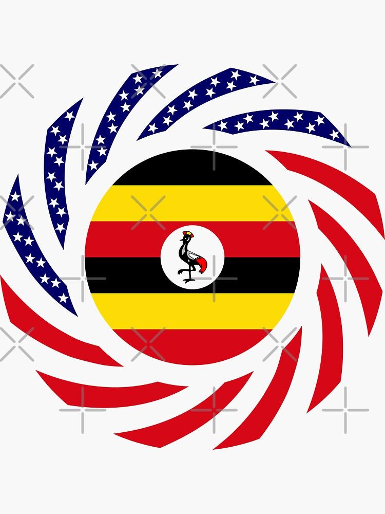 Ugandan American Multinational Patriot Flag Series by carbonfibreme