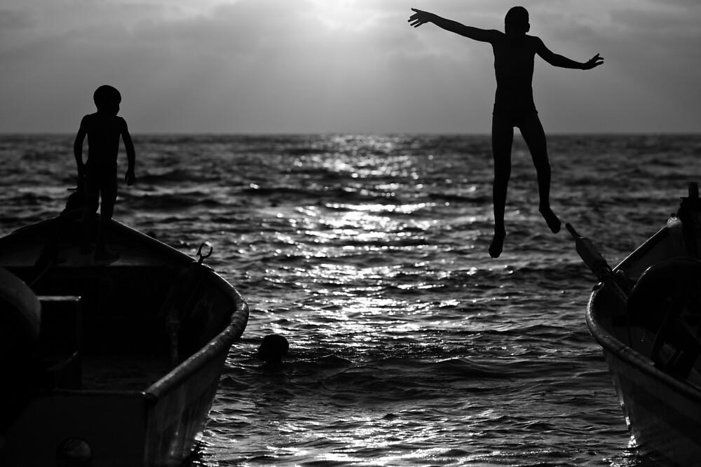 flying kids by Victor Bezrukov