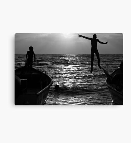 flying kids Canvas Print