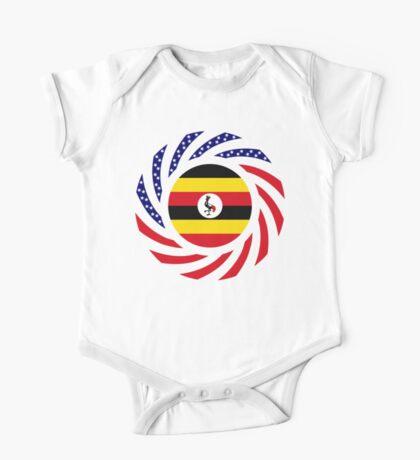 Ugandan American Multinational Patriot Flag Series Kids Clothes