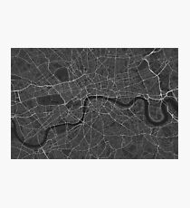 London, England Map. (White on black) Fotodruck
