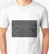 London, England Map. (White on black) Unisex T-Shirt