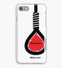 whitty text iPhone Case/Skin