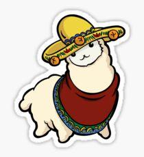 Alpaca in the hat Sticker
